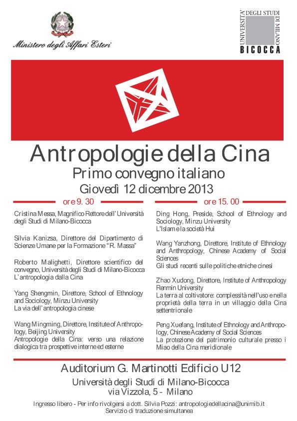 Programma Antropologie della Cina